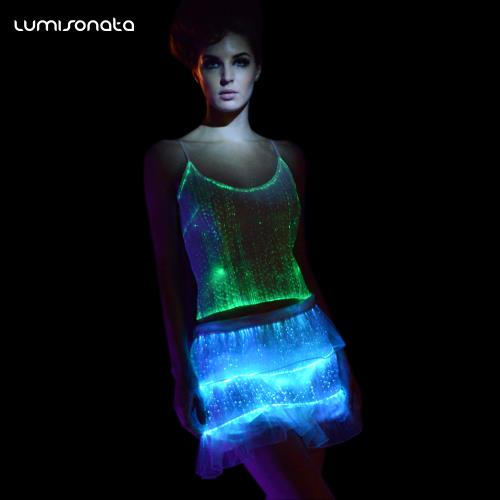 YQ-09 light up womens tank top