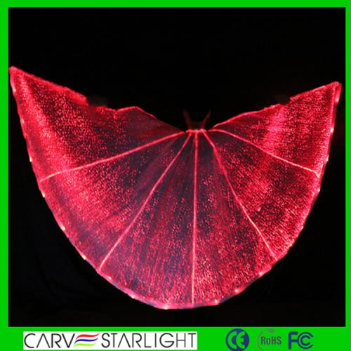 YQ-59 Optic fiber glow color light up belly dance wings