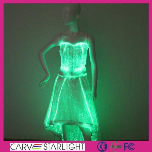 YQ-58 luminous evening dress with tail
