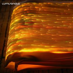 YQ-100 luminous light up fabric