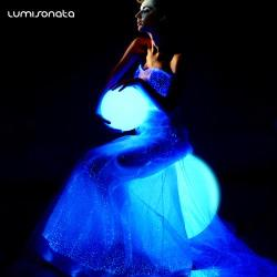 2019 Led  luminous fiber optic wedding dresses