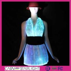 YQ-01-08 glow in the dark bling cocktail dress
