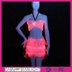 YQ-02-24 led fiber optic dress for sale