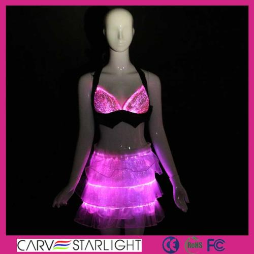 YQ-26-24 LED lighting luminous bra and skirt