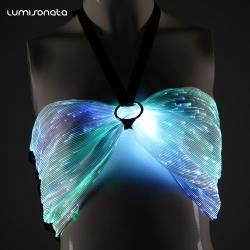 YQ-02-08 LED luminous club sexy skirts set