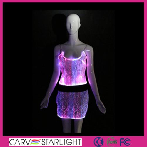 YQ-09-14 LED light up  top and skirt set