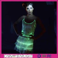 YQ-09-24 luminous light skirt tops set