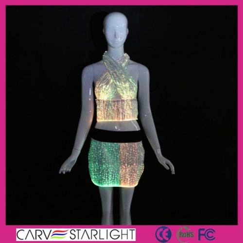 YQ-06-14 Fiber optic luminous top skirt set