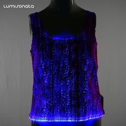 led light up women tank top & led pants