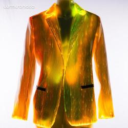 The light up optic fiber fabric suit