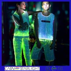 The luminous optic fiber fabric tank top for burning man festival