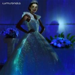 LED light up wedding bridal dress