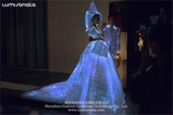 LED fashion dress with train