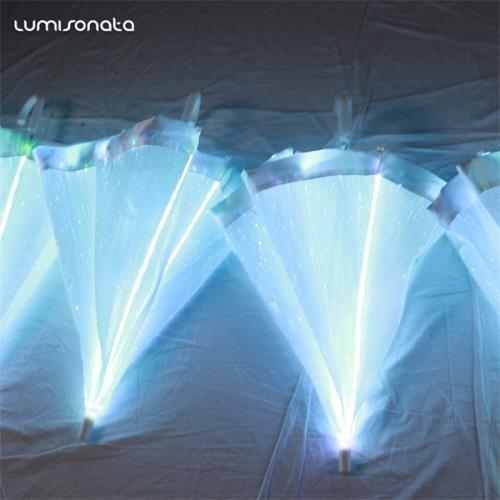 YQ-61 light up POF fabric umbrella