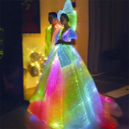 light up wedding bridal dress tuxedo