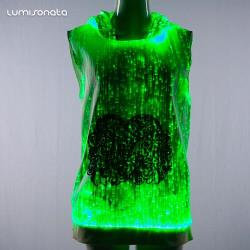YQ-85 light up  LED fashion girl hoodie