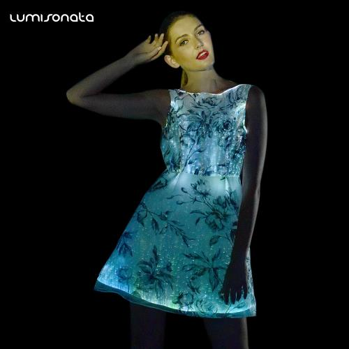 YQ-82 Light illuminating optical fiber cloth skirt