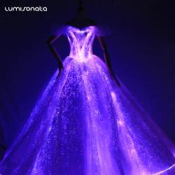 YQ-101 Light Up Evening Dress Met Gala Gown