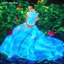 YQ-113 2017 hot glowing dress glow in the dark dress