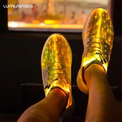 Fiber optic light up led shoes rave gear