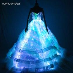 2018 New Arrivals Led Luminous Bridal Gowns