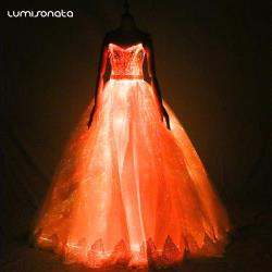 Latest LED Luminous Wedding Dresses