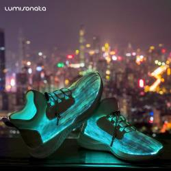 YQ-117 2018 cool remote controlled luminous shoes