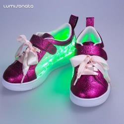led light running kid shoes