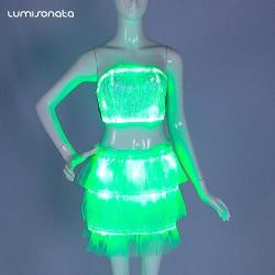 LED luminous bandage skirt sets