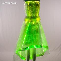 Led fiber optic dress for light up stage
