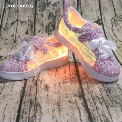 YQ-117 Kids Grils Boys LED Light Up Shoes