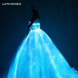 YQ-122 Led Light Up Fiber Optic Bridal Gown