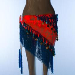 YQ-78 LED Shining Colorful Waist Belly Dance Hip Scarf