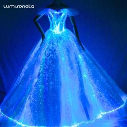 YQ-101  Fiber Optic Nobility Wedding Dress