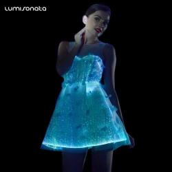 YQ-45 christmas LED light up dance dresses
