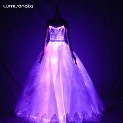 Led Light-Emitting Wedding Party Dresses