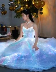 LUMISONATA Led light up prom dress