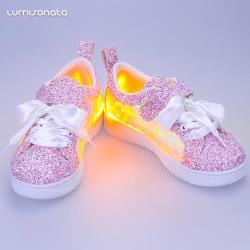 YQ-117 Girls' & Boys' Light-Up Shoes