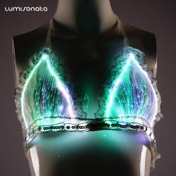 LED Rave Bra --Led light up clothing