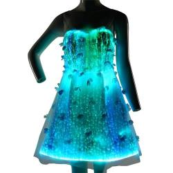 YQ-45 fiber optic led flower dress
