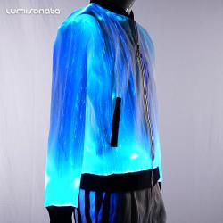 YQ-87 Men's Fiber Optic Light up Jacket