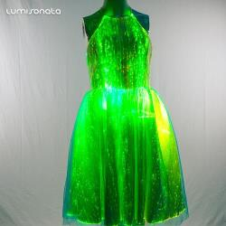 Smart LED light up dance dress