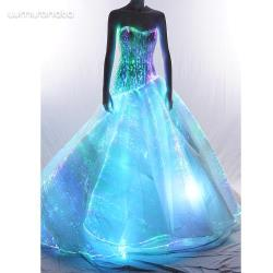 glitter fabric women luminous wedding dress