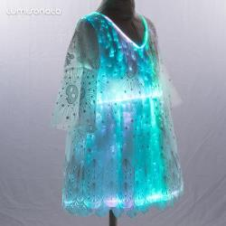 2019 New luminous fiber optic kids skirt