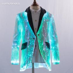 YQ-159 fiber optic kids Blazer Suit