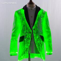 Led kid suits with fiber optic fabric