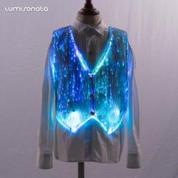 led fiber optic child boys kids vest