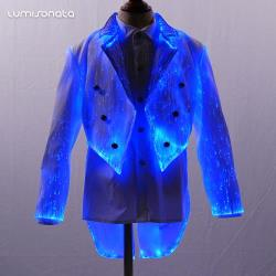 New led luminous slim fit kids blazer suit