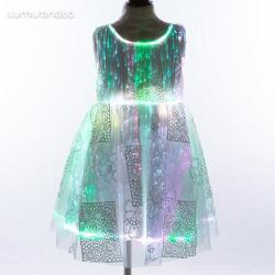 white fiber optic baby girls dress