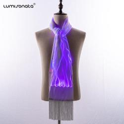 Light Up Luminous Scarves with 7 color led changeable